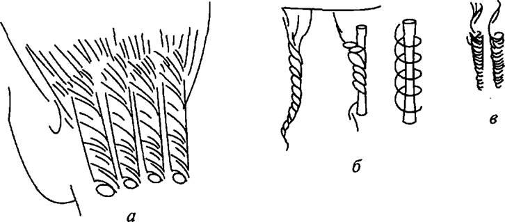 Спиральная химическая завивка