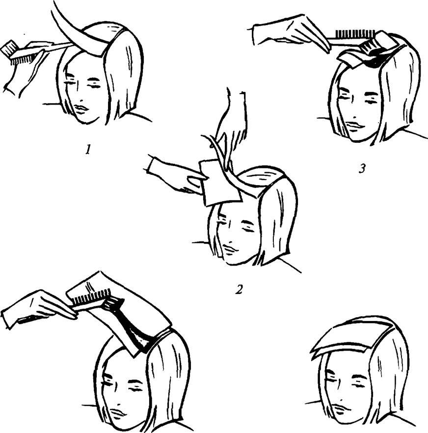 Окраска волос с применением